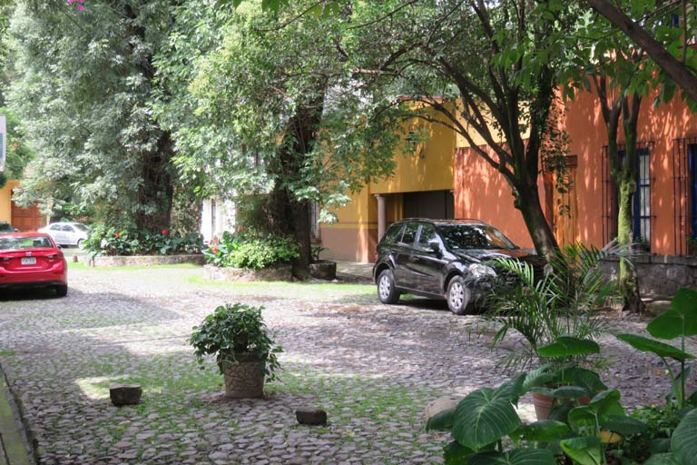 The pretty leafy and cobbled residential streets of Coyoacán